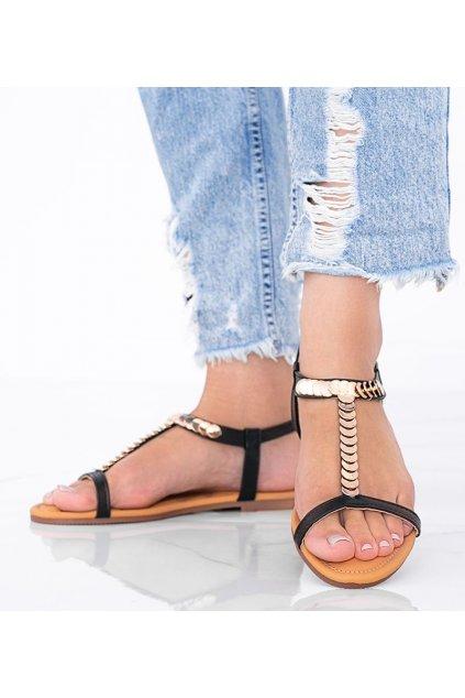 Dámske topánky sandále čierne kód AG202-1 - GM