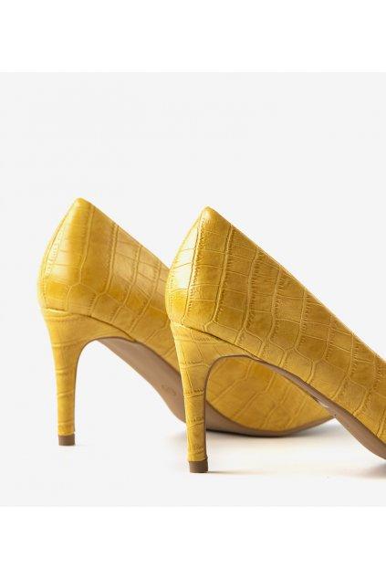 Dámske topánky lodičky žlté kód CD60 - GM