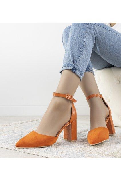 Dámske topánky lodičky oranžové kód DH06 - GM