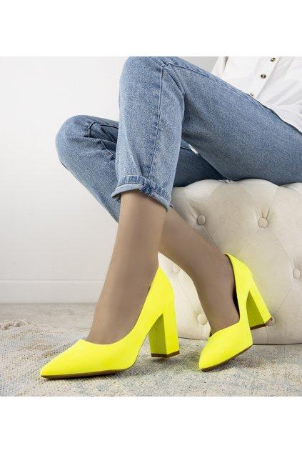 Dámske topánky lodičky žlté kód DH05 - GM