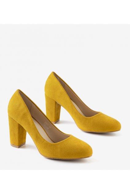 Dámske topánky lodičky žlté kód DH01 - GM