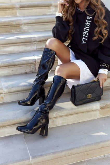 Dámske čižmy farba čierna kód obuvi L1016 BLK