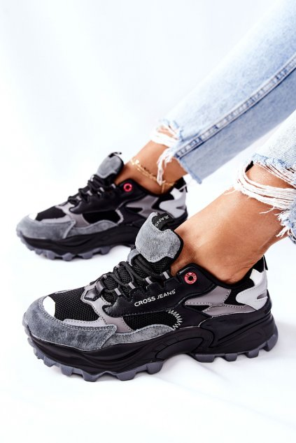 Dámske tenisky farba čierna kód obuvi II2R4019C BLK GREY