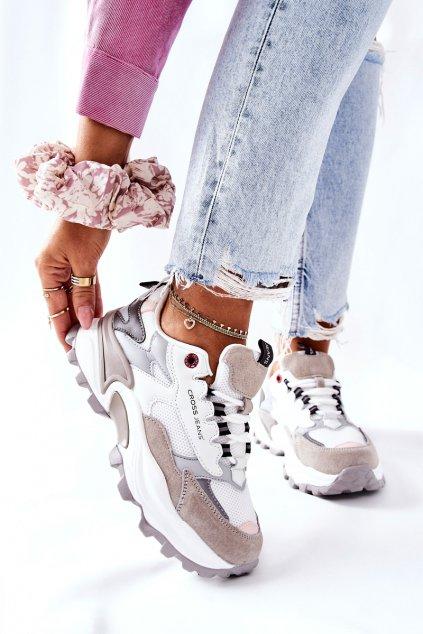 Dámske tenisky farba biela kód obuvi II2R4020C WHITE/GREY