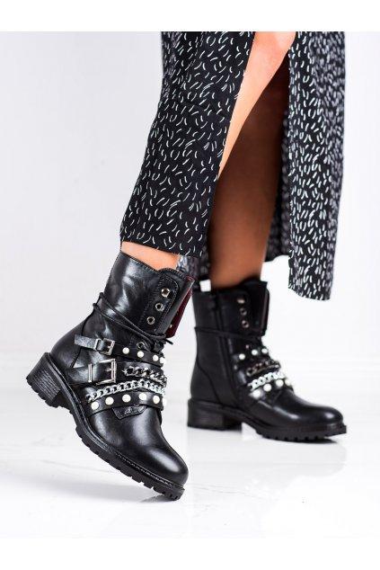 Čierne dámske topánky Erynn kod M506B/B