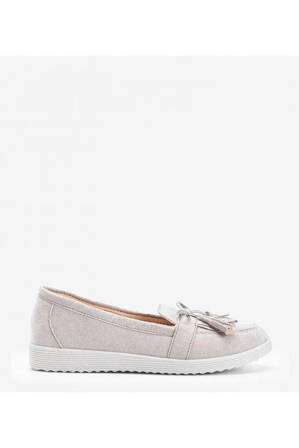 Dámske topánky mokasíny hnedé kód DD1815-5 - GM