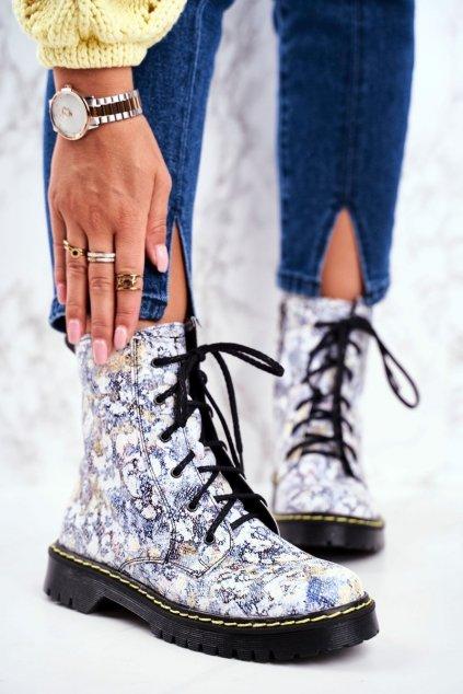 Členkové topánky na podpätku farba viacfarebná kód obuvi 01609-39/00-6 MULTI