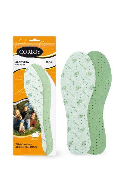 Vložky do topánok stielky kód CORBBY ALOE VERA