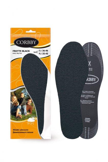 Vložky do topánok stielky kód CORBBY FROTTE BLACK
