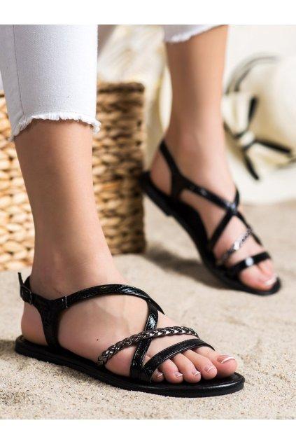 Čierne dámske sandále Vinceza kod YQE21-17136B