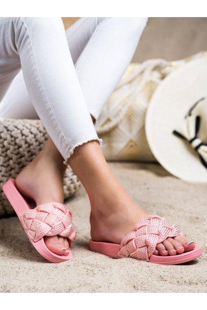 Ružové dámske šľapky Groto gogo kod G259P