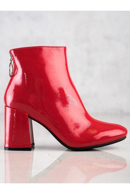 Červené dámske topánky Lucky shoes kod A-323R