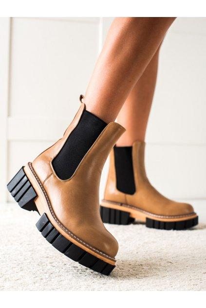 Hnedé dámske topánky Seastar kod NS228LT.KH