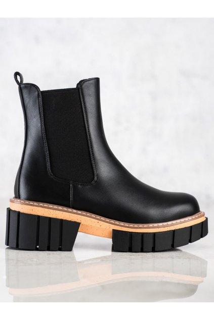 Čierne dámske topánky Seastar kod NS228B