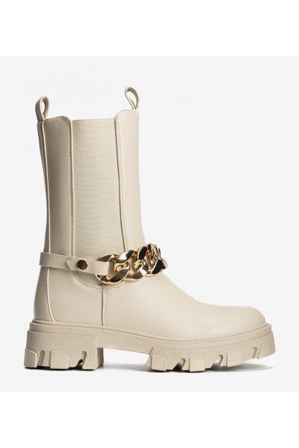 Dámske členkové topánky hnedé kód D7788 - GM