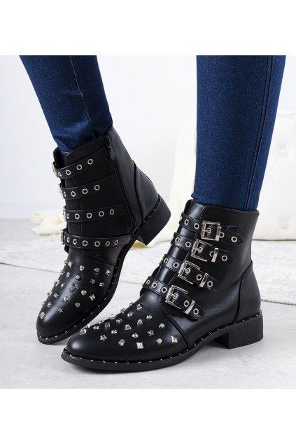 Dámske členkové topánky čierne kód M8AX1658-18 - GM