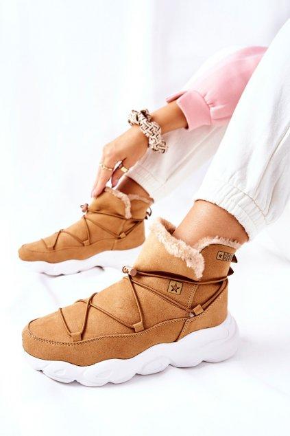 Dámske snehule farba hnedá kód obuvi II274266 CAMEL