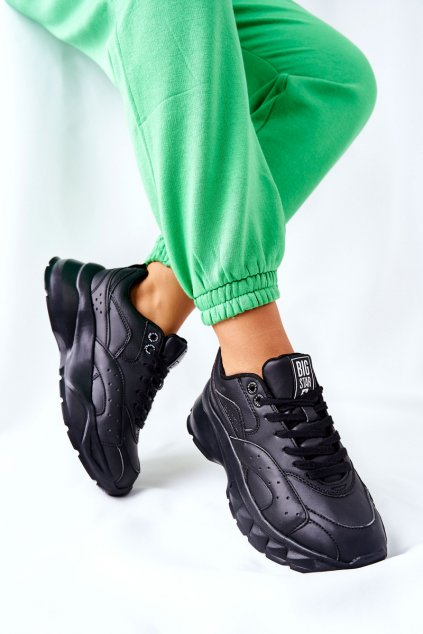 Dámske tenisky farba čierna kód obuvi II274287 BLK