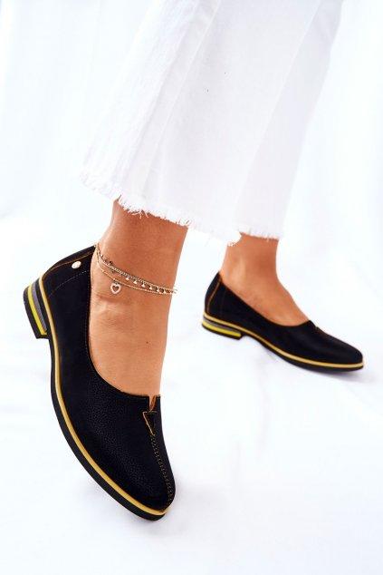 Dámske poltopánky farba čierna kód obuvi 05035-07 BLK