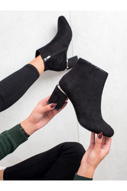 Čierne dámske topánky Goodin kod KW-15B