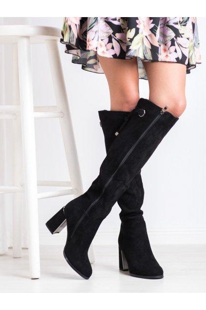 Čierne dámske čižmy Goodin kod FL3001B