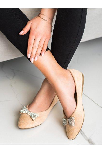 Hnedé dámske balerínky Vinceza kod OCA21-2185BE