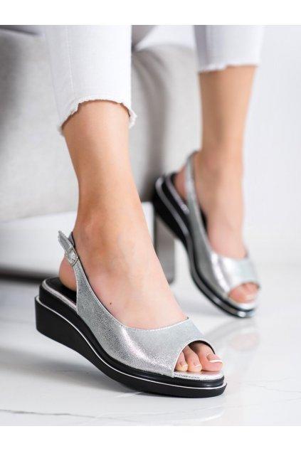 Sivé dámske sandále Goodin kod GD-XR-301S