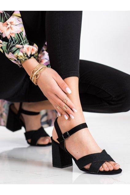 Čierne dámske sandále Vinceza kod YQE21-17125B