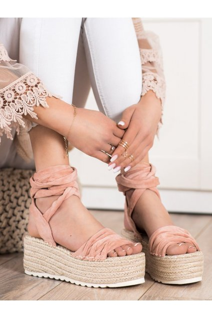 Ružové dámske sandále Trendi kod BL262P