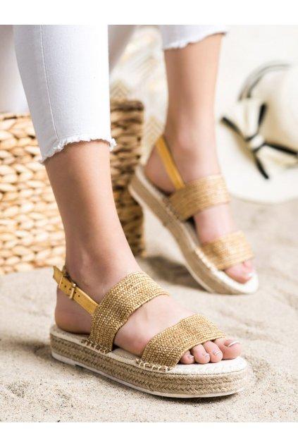 Žlté dámske sandále Trendi kod WSA-65Y