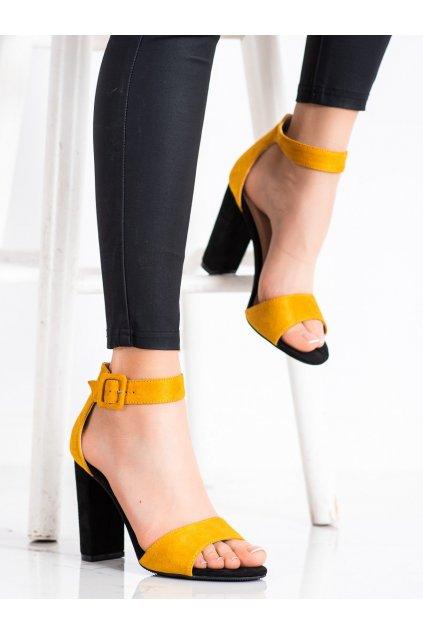 Žlté dámske sandále Goodin kod GD-LL-59Y