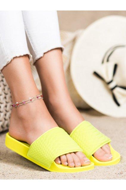 Žlté dámske šľapky Kayla kod 38859Y