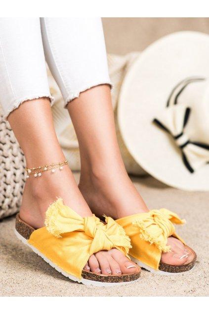 Žlté dámske šľapky Forever folie kod WS11Y