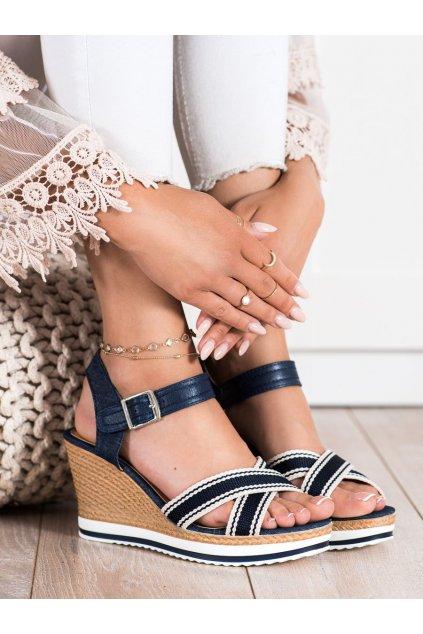 Fialové dámske sandále Trendi kod A89930BL