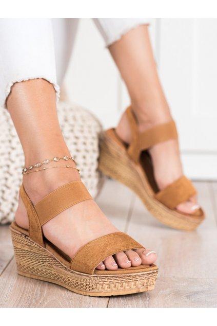 Hnedé dámske sandále Queentina kod BH2606C