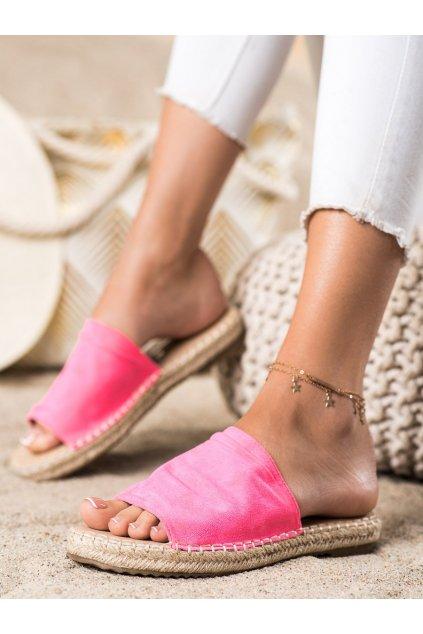 Ružové dámske šľapky Trendi kod LX203FU