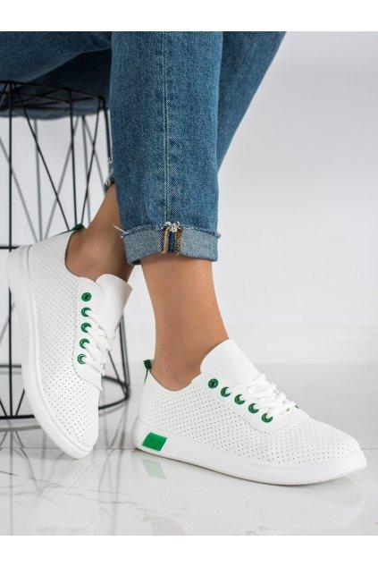 Biele dámske tenisky Trendi kod LA42GR