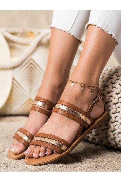 Hnedé dámske sandále Cm paris kod 8839-42C