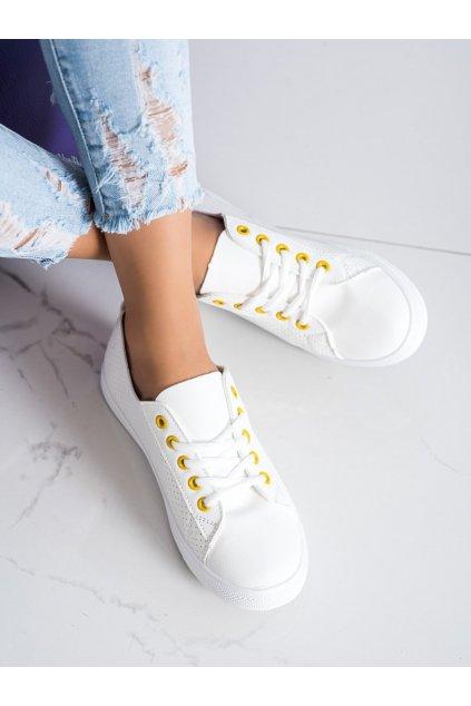 Biele dámske tenisky Trendi kod LA43Y