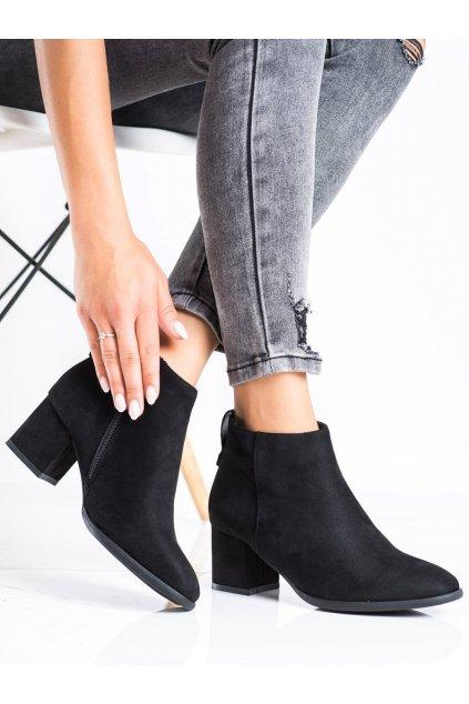 Čierne dámske topánky Vinceza kod HX22-16240B