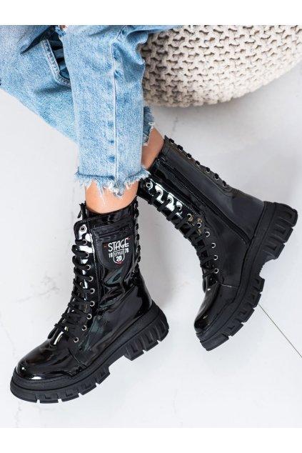 Čierne dámske topánky Trendi kod 21-54001B