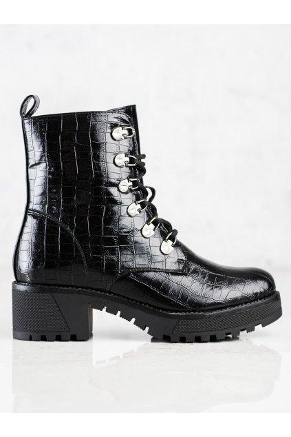 Čierne dámske topánky Bestelle kod RQ311B