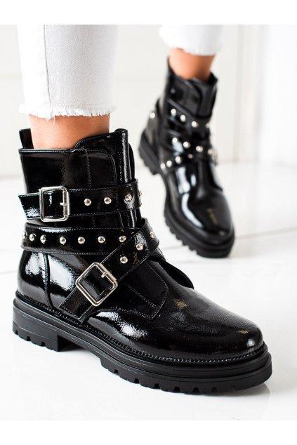 Čierne dámske topánky Bestelle kod HB-03B