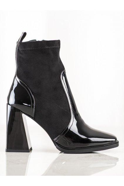 Čierne dámske topánky S. barski kod K45B