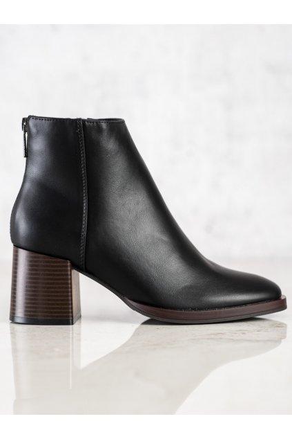 Čierne dámske topánky Sergio leone kod BT545B