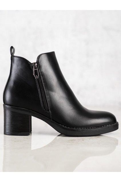 Čierne dámske topánky Seastar kod UK17B