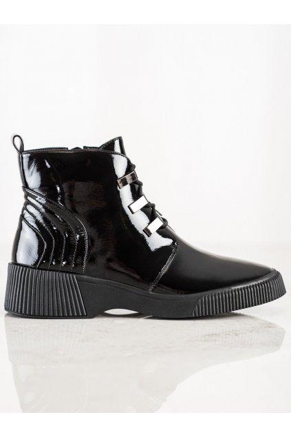 Čierne dámske topánky S. barski kod S49B