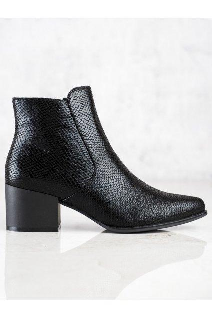 Čierne dámske topánky Sergio leone kod BT628B