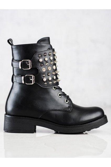 Čierne dámske topánky Melisa kod CR0623B