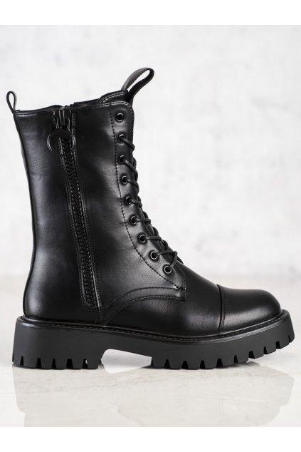 Čierne dámske topánky Trendi kod LG188B